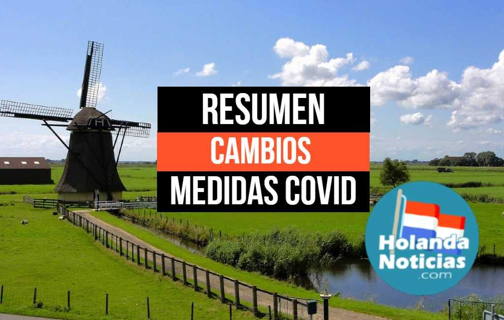 Resumen de las medidas Covid-19 y sus cambios en los Países Bajos
