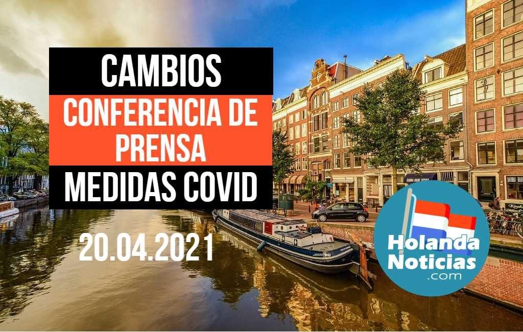 La conferencia de prensa de HOY en los Países Bajos y todos los cambios de medidas Covid-19
