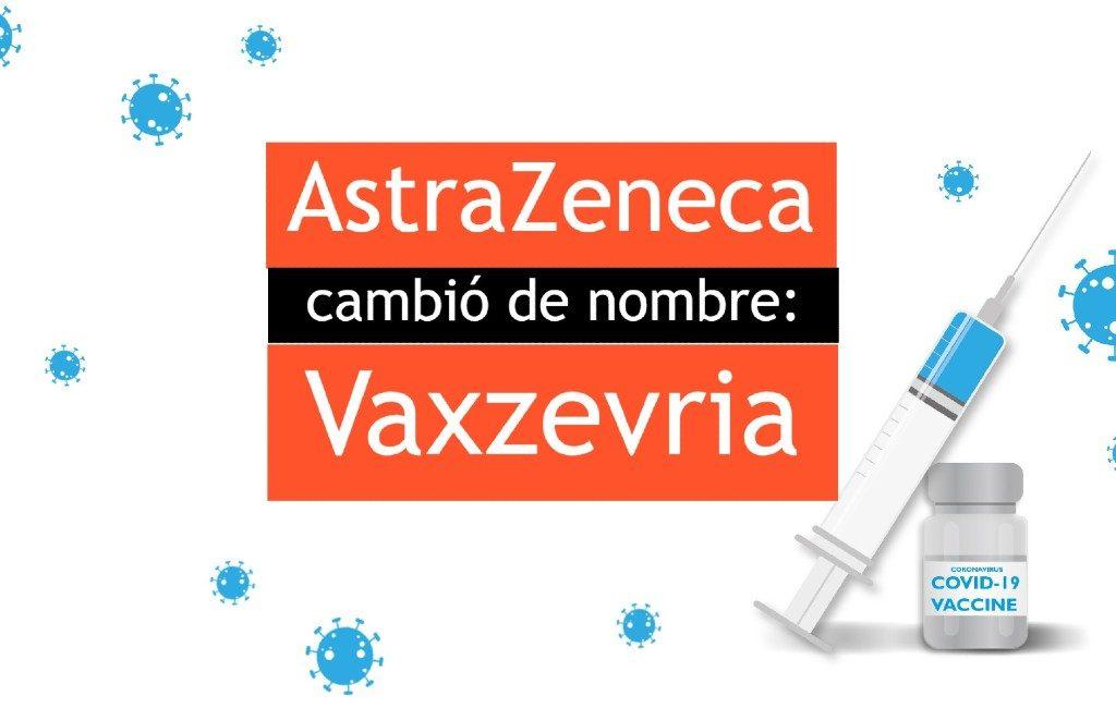 La vacuna AstraZeneca cambió de nombre a Vaxzevria.