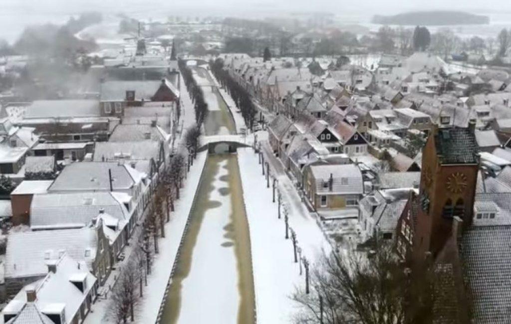Video dron Sloten, De Telegraaf