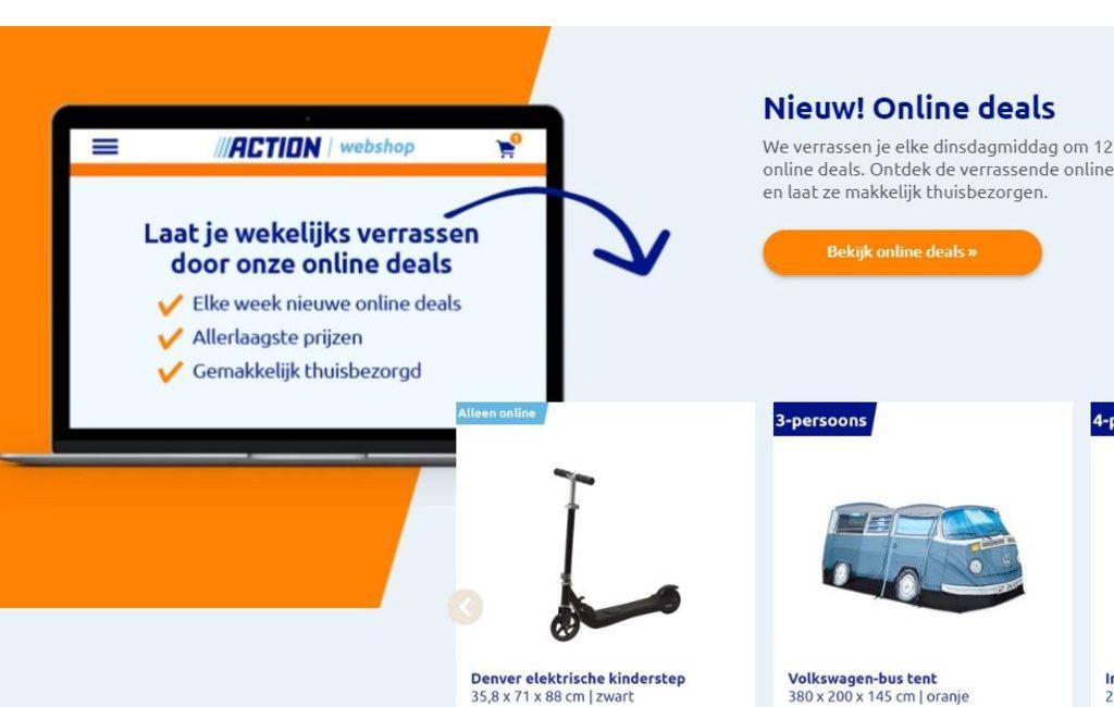 Action vende por Internet y entrega a domicilio