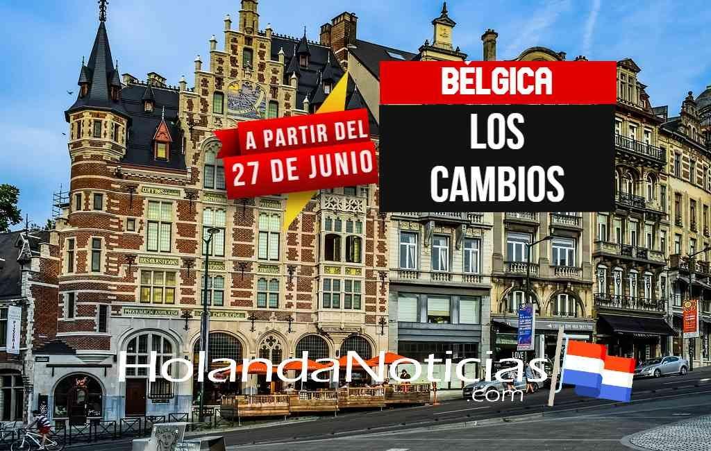 Bélgica anunció cambios en sus medidas