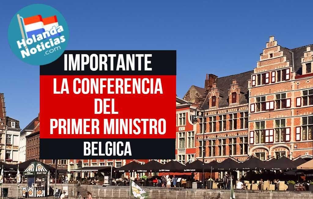 Conferencia de prensa en Bélgica