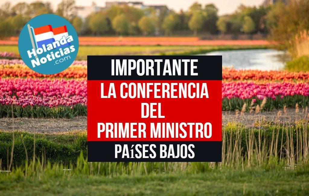 La conferencia de prensa ministro Rutte