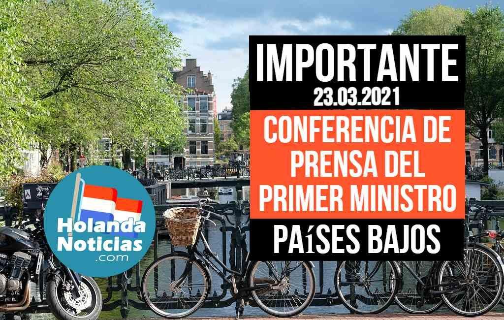 Conferencia de prensa Países Bajos 23.03.2021
