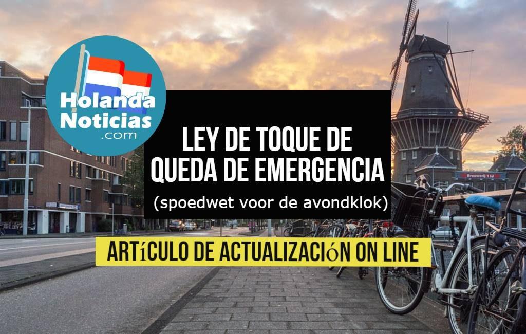 Ley de toque de queda de emergencia (spoedwet voor de avondklok).