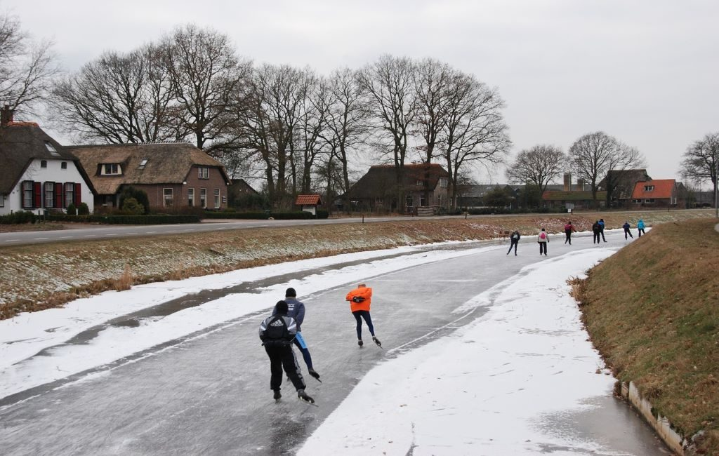 'Elfstedentocht' de patinaje sobre hielo en los Países Bajos