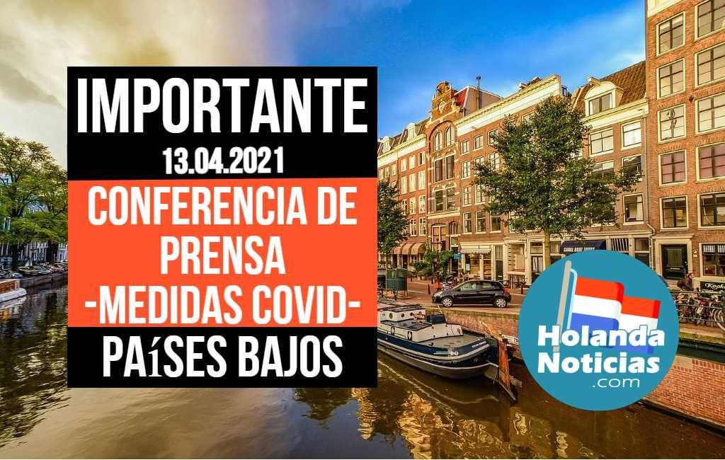 Resumen de la Conferencia de Prensa (medidas coronavirus) en los Países Bajos