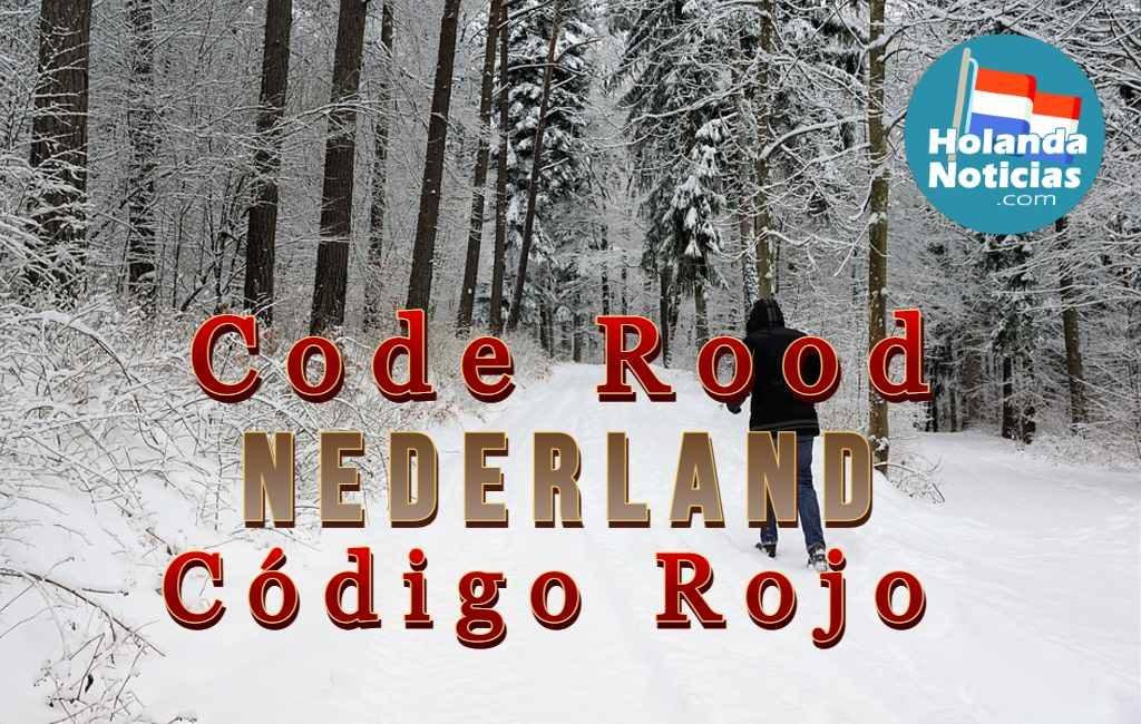 Nederland en Código Rojo por frío, nieve y viento.