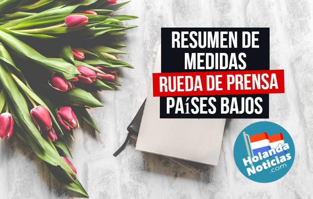 Resumen de lo anunciado el lunes 8 de marzo en los Países Bajos.